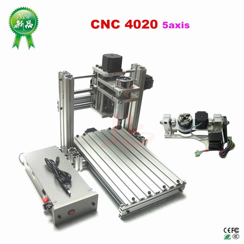 Mini DIY 4020 CNC fresadora de Metal Mach3 ER11 CNC máquina de carpintería PCB grabador en enrutadores de madera máquina de joyería
