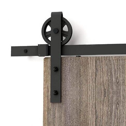 For Russian Vintage Industrial Wheel Sliding Barn Wood Door Interior Closet Door Kitchen Door Track Kit Track System Hardware