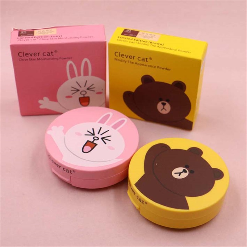 Cartoon Face Base Pressed Powder Matte Concealer Contour Palette Whitening Oil Control Foundation Powder