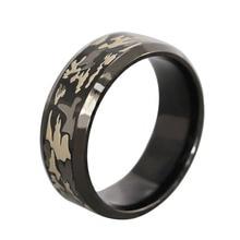 Bagues militaires vintage punk trois couleurs camouflage noir bague titane acier noir Camo hommes bijoux anel masculino anelli