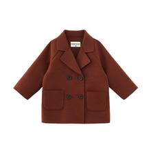 2019 junge Kleidung Lange Kinder Oberbekleidung Jungen Jacken Und Mäntel Jungen Woolen Zweireiher Baby Junge Graben Mantel Kinder Kleidung