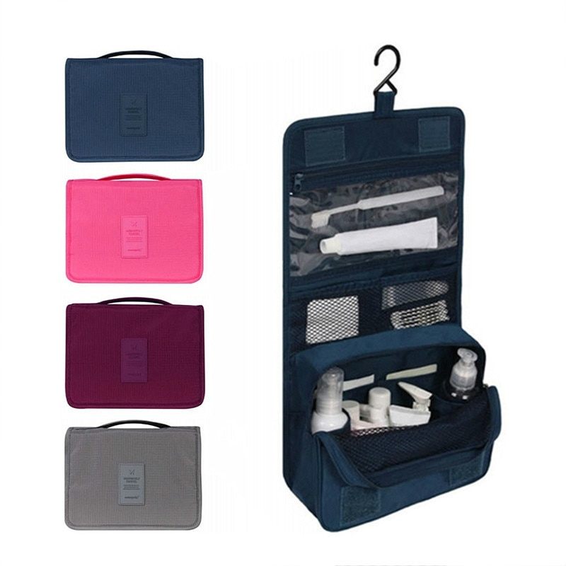 Neceser de viaje para hombre, Neceser impermeable de gran calidad para mujer, Neceser organizador de cosméticos, bolsa de almacenamiento, bolsas colgantes para lavar