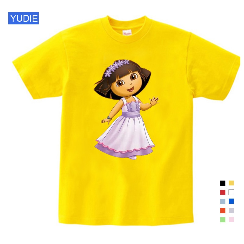Girls t shirts birthday  T Shirt Sweet Lovely Style Cartoon for Boy Girls Clothes Funny Children T Shirt Summer kids Clothing