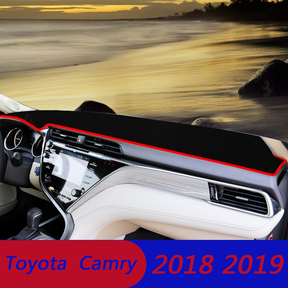 Coche LHD RHD frente trasero Dashmat para Toyota Camry 70 V70 XV70 2018 2019 cubiertas de salpicadero de coche Mat Sun Shade Pad alfombras