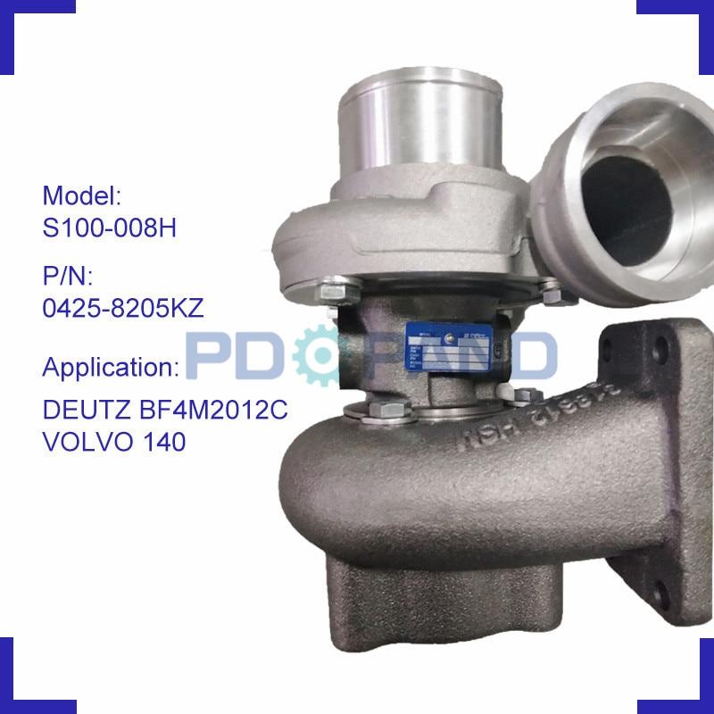 Turbocharger peças turbo charger 0425 8205KZ S100-008H T912394 BF4M 2012C VOLVO 127607 318279 para DEUTZ 140 do motor diesel 103KW