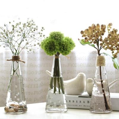 O. RoseLif 1 Uds. Jarrón de cristal para organizar flores pasteles de vidrio moda flor hermosa cafetería decoración del hogar Decoración de la boda
