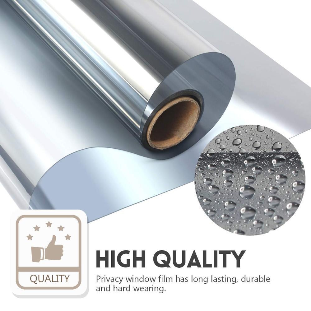 Multi-Width , Length 2/3/5 m One Way Mirror Window Film.Self-adhesive Reflective Privacy Glass Tint,Heat Control Solar film