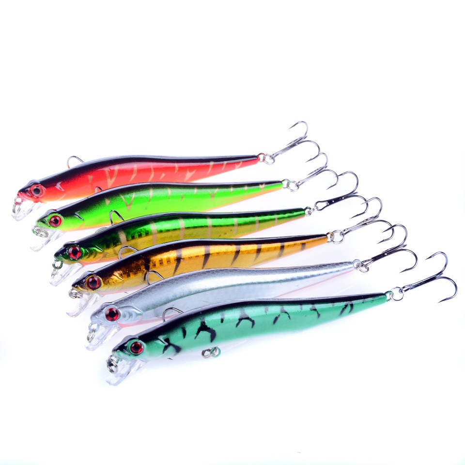 6pcs Wobbler Fishing Lure Fish Bait Crankbait Peche Minnow Carp Lure Pesca Yo Zuri YUZI Ima 11.5cm 10g enlarge