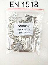 100 sztuk EN1518 rura naga Terminal końcówki Cooper Ferrules zestaw drut miedziany zaciskane złącze przewód w izolacji Pin