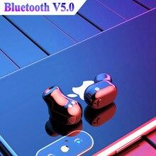 Mini Fone de Ouvido Bluetooth Sem Fio Verdadeiro Fones de Ouvido Estéreo fone de ouvido Bluetooth 5.0 Esporte Sem Fio fones de ouvido com caixa de Carga À Prova D Água