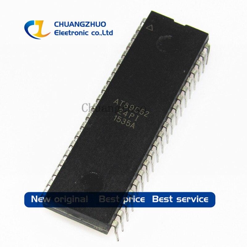 شحن مجاني 100 قطعة/الوحدة AT89C52-24PI AT89C52 MCU 8BIT 8KB فلاش DIP-40 أفضل جودة.