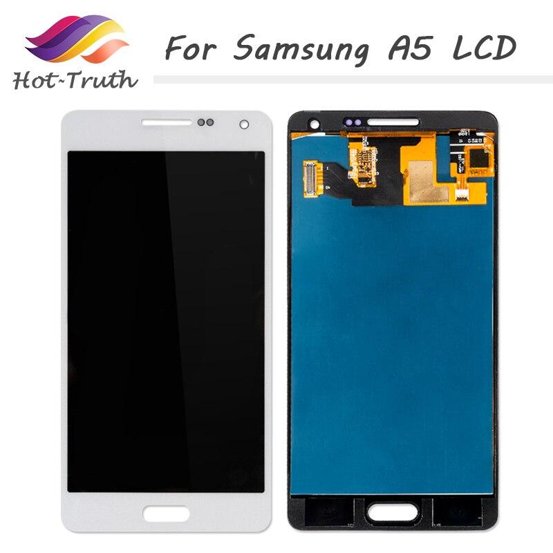 Gran Verdad 3 unids/lote pantalla LCD para SAMSUNG Galaxy A5 2015 A500 A500F A500FU pantalla LCD MONTAJE DE digitalizador con pantalla táctil