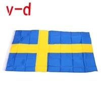 free shipping xvggdg new swedish flag 3ft x 5ft hanging sweden flag polyester standard flag banner