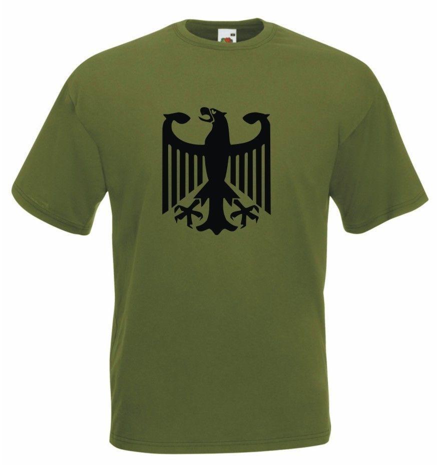 2019 verano Camiseta cuello redondo de moda Casual alta calidad Ejército alemán águila Bundeswehr algodón camiseta ajustada camiseta
