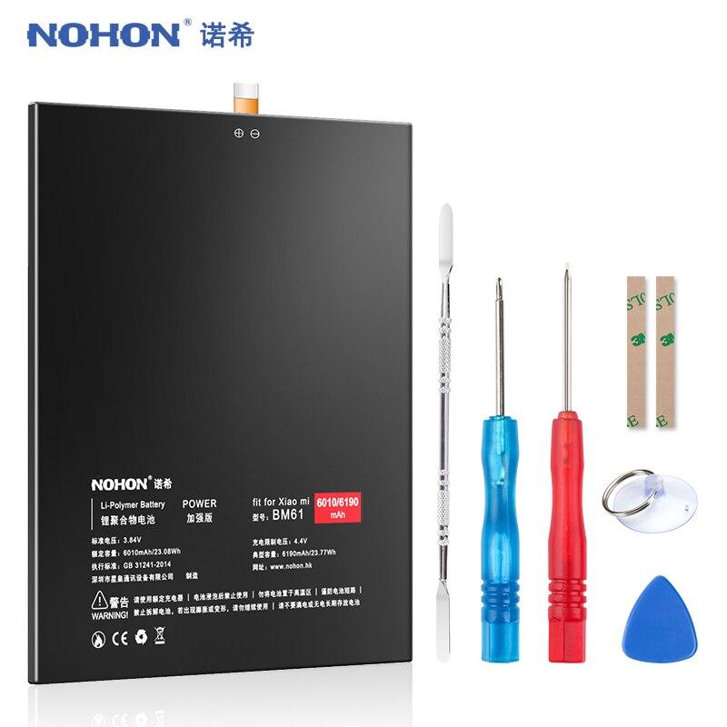 NOHON BM61 батарея для Xiaomi Mi Pad 1 2 Pad2 Mipad2 MiPad 1 2 сменная батарея 6190mAh литий-полимерный планшет Bateria + Инструменты