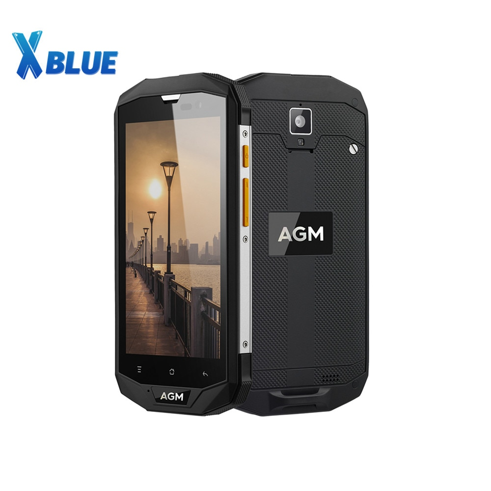 AGM A8 SE IP68-هاتف خلوي مقاوم للماء ، هاتف ذكي 4G QUALCOMM MSM8916 ، شاشة 5.0 بوصة عالية الدقة 4050 مللي أمبير ، 2 جيجا بايت رام ، 16 جيجا بايت روم ، كاميرا 8 ميجا ب...
