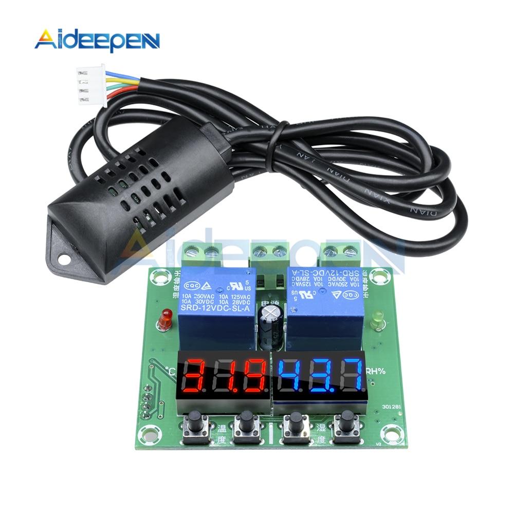 XH-M452 Termostato Digital LED Temperatura de Control de humedad termómetro higrómetro DC 12V controlador módulo de relé