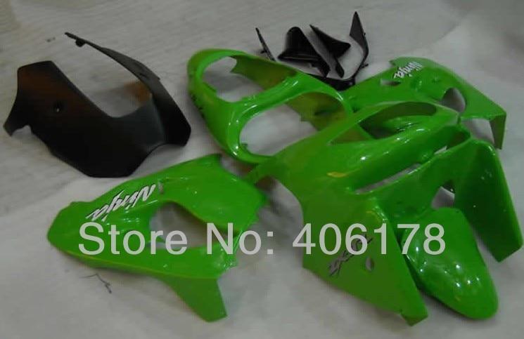 Zx 9r 98 99 kit corpo carenagem de plástico abs para ninja zx9r 1998 1999 ZX-9R corrida verde da motocicleta carenagem kit