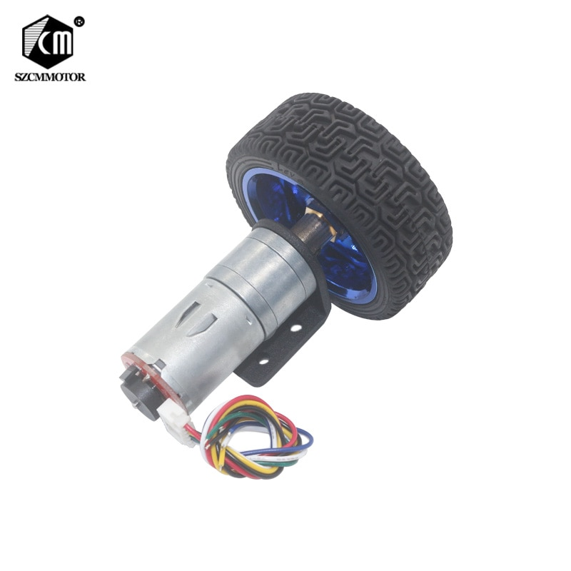 DiY Arduino Geared Motors 6V 12V 24V DC Gear Motor With Encoder and 65mm Wheel Coupling Kit For DIY Robot Smart Car Gearmotors