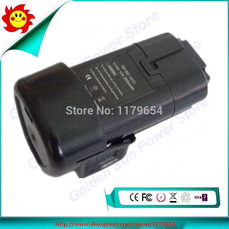 Envío Gratis para Black & Decker 12 V, 2000 mAh, batería de herramienta eléctrica Li-ion, BL1110, BL1310, BL1510, LB12, LBX12, LBXR12, BDCDMT112, EGBL108