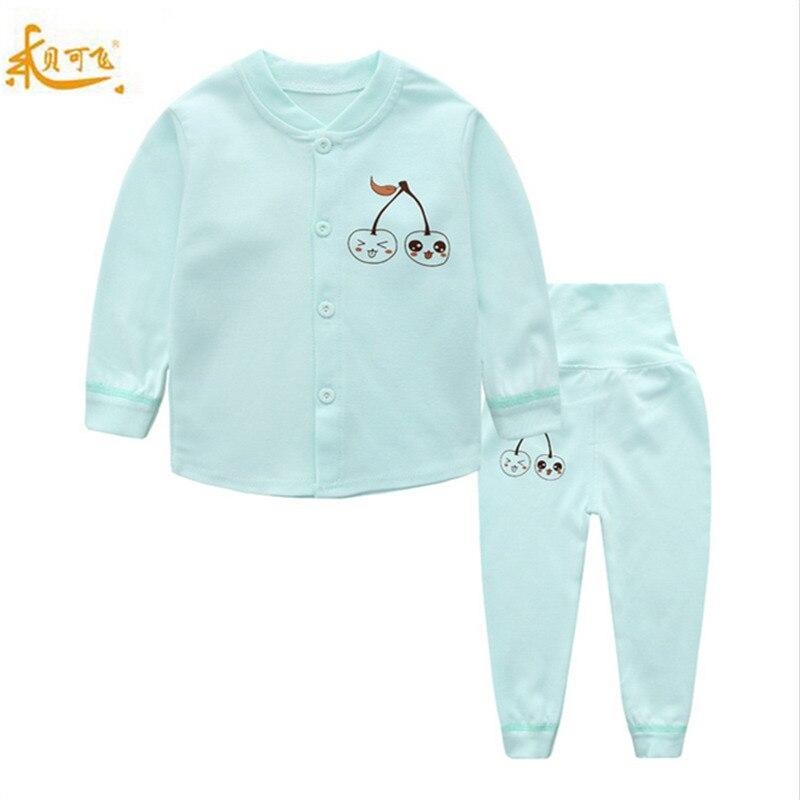 2 pcs Definir Conjuntos de Roupas Íntimas Do Bebê Dos Desenhos Animados roupa Do Bebê Da Menina do Menino Roupas Casuais ternos criança crianças agasalho de algodão Penteado