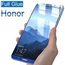 Verre trempé 3D à couverture complète pour Huawei Honor 10 9 8 Lite protecteur décran pleine colle huawey honer 8 lite 9 lite 10 lite light 9 h
