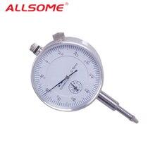 ALLSOME 10/0.01mm Micrometer Measurement Instrument Round Dial Indicator Gauge Vertical Contact Digital Mikrometer HT1605