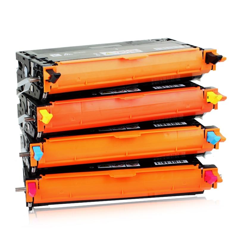 593-10170 BK 593-10171 C 593-10172 M 593-10173 Y cartucho de tóner de Color 8K páginas Compatible para Dell 3115 / 3110
