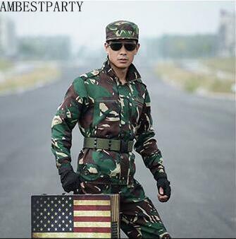 Ropa de camuflaje para adultos al aire libre, ropa de caza, ropa táctica, uniformes del Ejército de EE. UU., traje de entrenamiento militar AMBESTPARTY