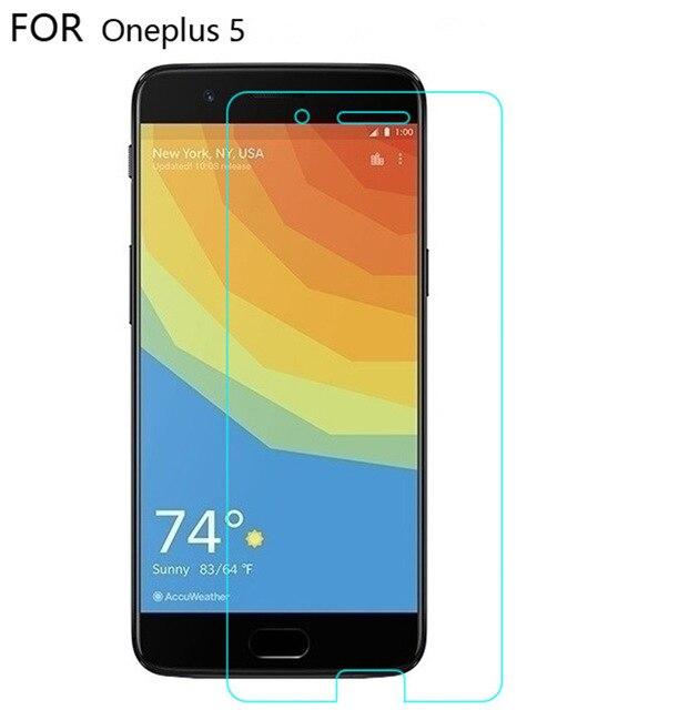 Oneplus 5 vidrio templado para oneplus 5 1 + 5 protector de pantalla oneplus 5 A5000 cubierta película protectora negra one plus 5 five glass 5,5