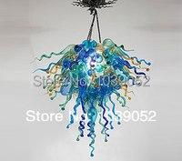 חדש צבעוני אמנות פרח אמבר זכוכית נברשת תאורה