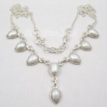 Chanti International belle AAA perle de mer blanche beau collier 17 5/8