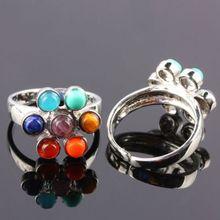 7 Chakra Yoga Treatment Department Mood Ring fashion Are Women Dance Activities Jewelry Petal Rainbow Jewelery rings for women