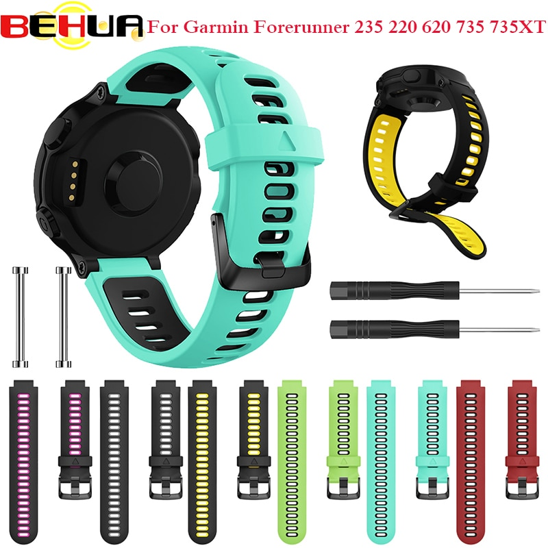 Outdoor Wristband For Garmin Forerunner 735XT 735/220/230/235/620/630 S20 Smart Watch Soft Silicone Strap Replacement Watch Band
