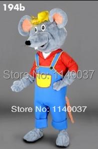 mascot Farmer Mouse plush Mascot Costume Cartoon Character carnival costume fancy Costume party