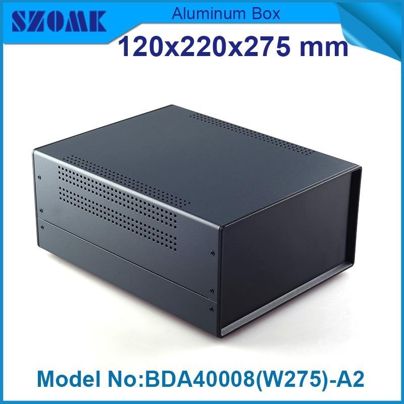 4 unids/lote caja eléctrica de pvc caja de hierro plástico negro materiales eléctricos de china 120 (H) x220 (W) x275 (L) mm caja pequeña de metal de hierro