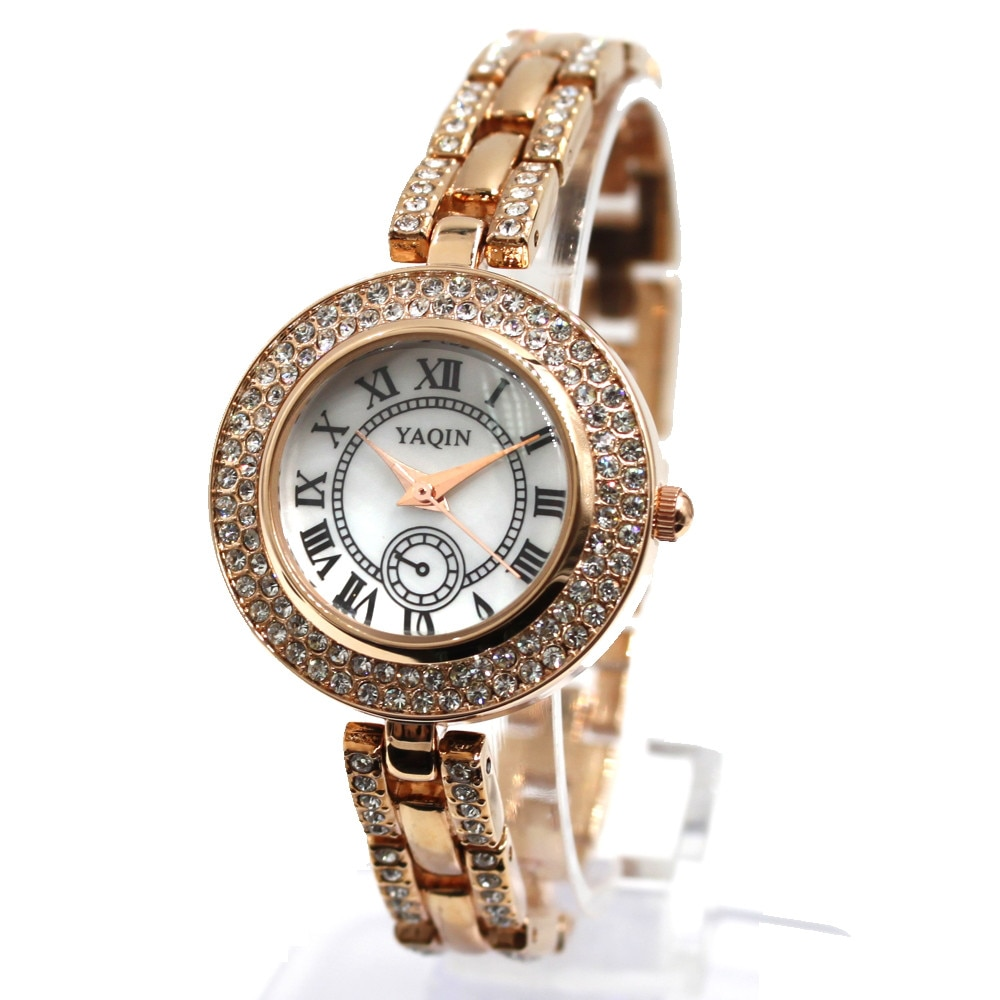 Wathces For Women Rose Gold  Rose Gold Watchcase White Dial Bracelet Watch FW942A enlarge