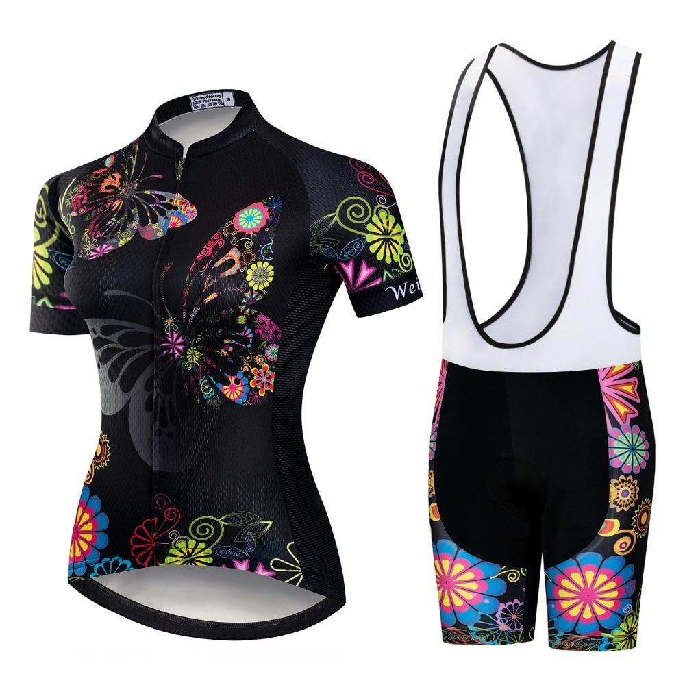 2020 Pro Team Kurzarm Frauen Radfahren Jersey Set Bike Bib Shorts MTB Ropa Ciclismo Reiten Tragen Fahrrad Kleidung Schwarz rosa