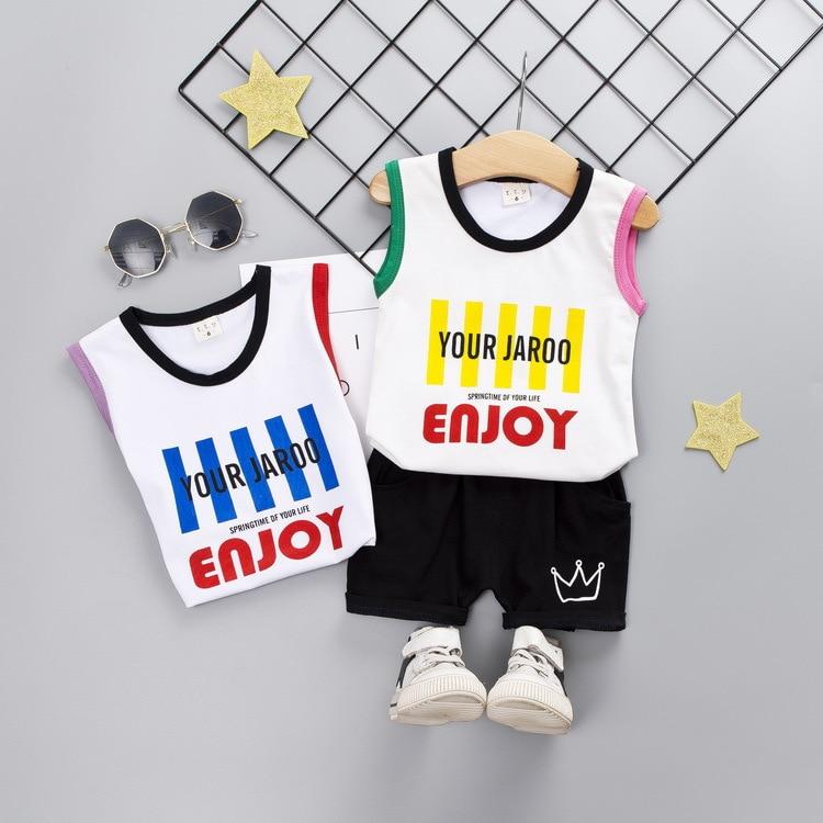 9.99 free ship cotton vest baby boy outfits summer 2 pcs clothing set children
