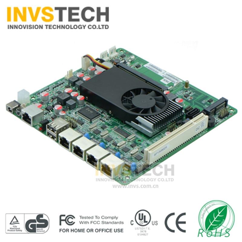 Quatro Gigabit Ethernet mini-itx 17*17 4 D525 1.80 ghz Lans firewall/rede/ROS moterboard M525FT