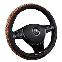 pu leather universal car steering wheel cover 38cm car styling sport auto steering wheel covers anti slip automotive accessories