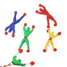 1 pièces Fun Flexible escalade hommes collant mur escalade bascule Spiderman enfants jouets soutien livraison directe soutien livraison directe
