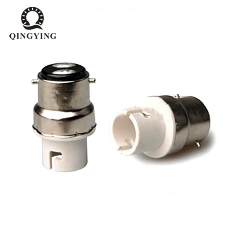1pcs B22 to B15 Lamp Holder LED Bulb Bayonet Socket Bases White Fireproof Lamp Holder Converters