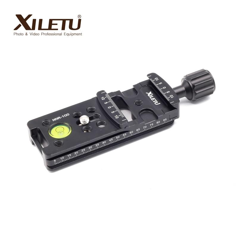 XIELTU NNR-100 alargar el soporte de montaje de la Cámara Placa de liberación rápida para cámara Digital Arca Swiss rótula de bola de trípode