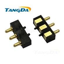 Tangda connecteur broche pogo 9*6.7*2.7mm   Broche de courant, espacement de broche de batterie, hauteur 3mm 3 3p 3pin antenne AG