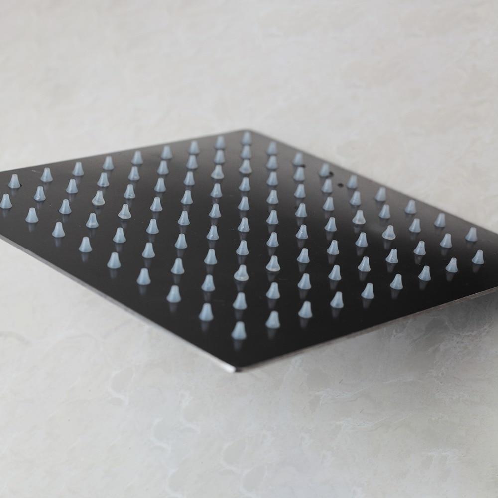 KEMAIDI-رأس دش 8 ، 10 ، 12 ، 16 بوصة ، للحمام ، للاستخدام الرومانسي ، أسود ، مع تشطيب ORB فقط