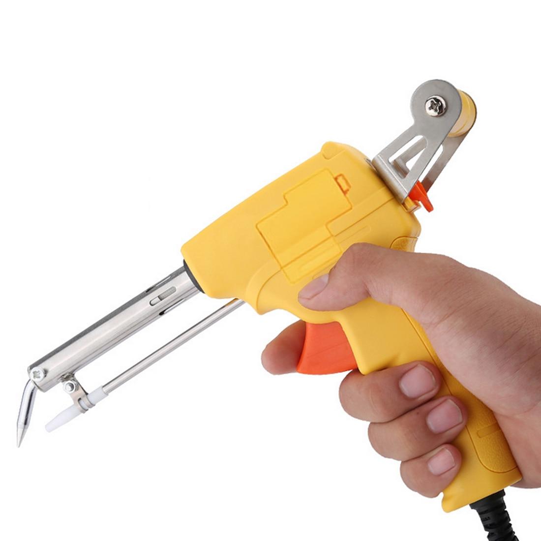Ac220v 60w estanho ferro de solda kit automático enviar pistola lata ferros solda elétrica otário ferramenta de solda