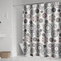 Rideaux de douche style boheme Mandala  pour salle de bain  geometrique  etanche  baignoire  couverture de bain Extra Large  12 crochets