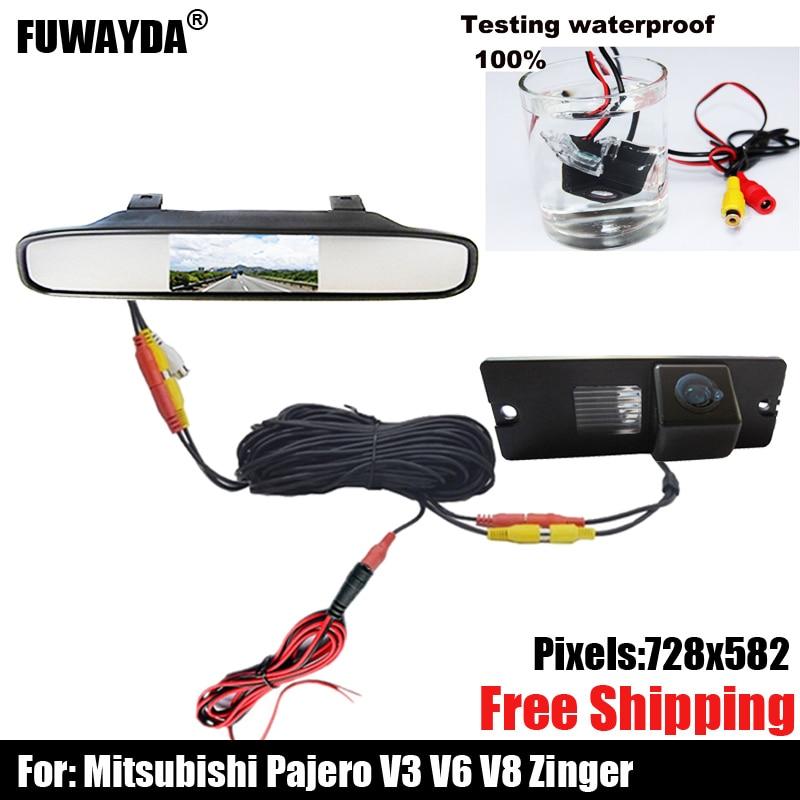 ¡Envío gratis! SONY CHIP CCD vista trasera de coche copia inversa de seguridad en el estacionamiento de DVD Cámara GPS para Mitsubishi Pajero V3 V6 V8 Zinger