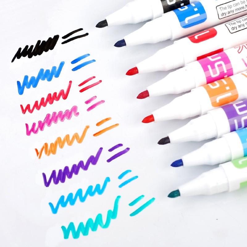 Знайте маркеры для белой доски, магнитная доска, маркеры для сухой стирания, маркеры Papelaria, белая доска для офиса и школы